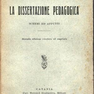 dissertazione pedagogica